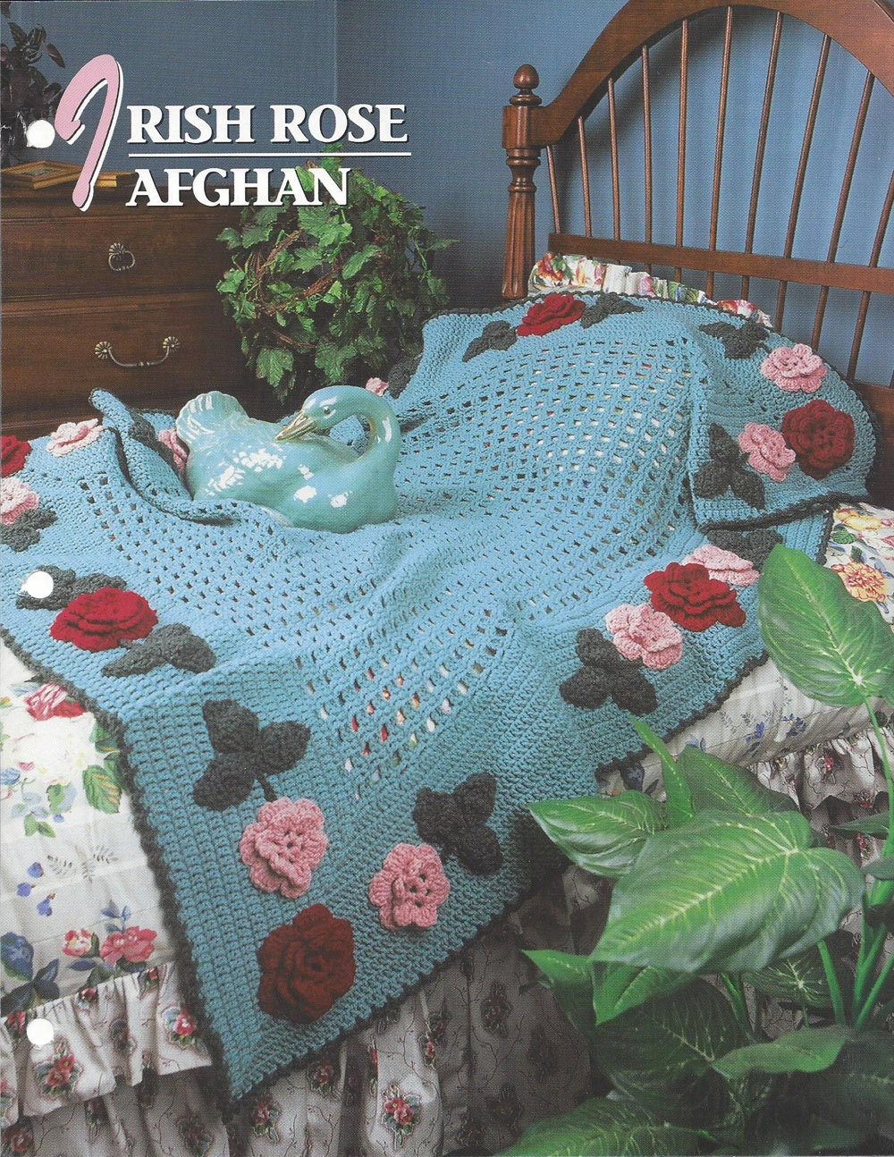 Crochet Afghan Patterns Quilt : Irish Rose Afghan Pattern Annies Crochet Quilt