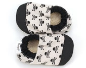 skull baby shoes rubber sole shoes gray and black booties rubber toe soft sole shoes pirate shoes baby boy skull slippers toddler shoes