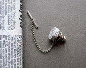1st Anniversary gift for husband. Handmade recycled paper tie tack.