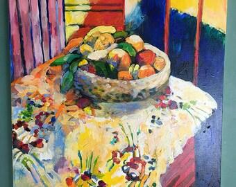 Original Painting - A Study of Matisse - Still Life of Fruit