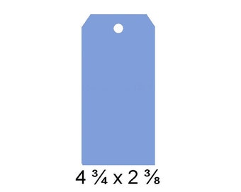 Large Blue Tags, Gift Tags, Price Tags, Plain Tags, Large Tag Blanks, large blue tag, blue gift tag, blue hang tag, blue tag, blue wish tag