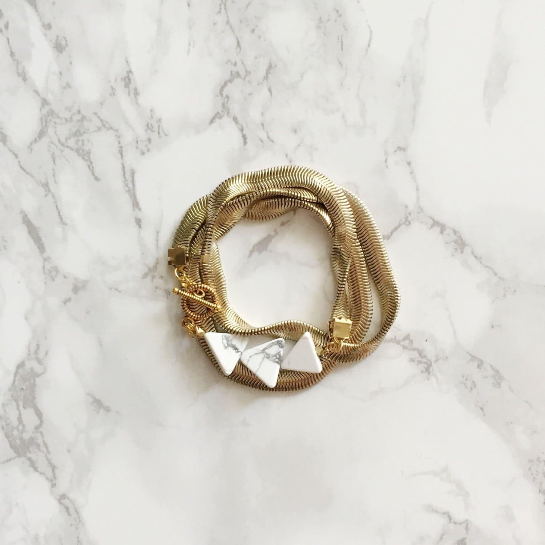 Marble Geometric Wrap Bracelet