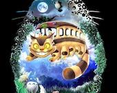 Your Neighbor Totoro A KoLabs Tribute to Miyazaki and Ghibli Digital Painting a museum quality giclée fine art print