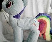 "Handmade 14.5"" My Little Pony : Friendship Is Magic Rainbow Dash Plush Stuffed Animal"