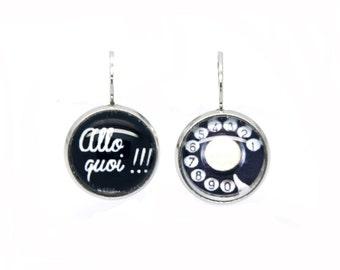Sleeper necklace black ALLO what Telephone vintage