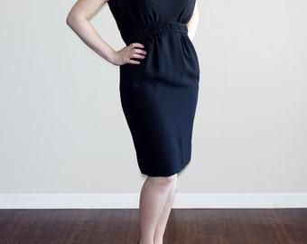 Vintage S Black Wiggle Dress