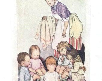 1920s AMELIARANNE FOOT BATHTIME Susan B. Pearse Print