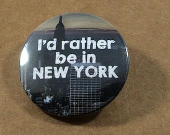 New York City Skyline pinback button Manhattan badge New York magnet NYC patch new york art print pins NY lapel pin travel quote traveler
