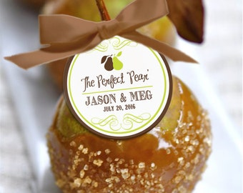 THE PERFECT PEAR Wedding Favor Tags | Wedding Favor Tag | Rustic Wedding Favor Tag | Personalized Wedding Favor Tag |  Printable