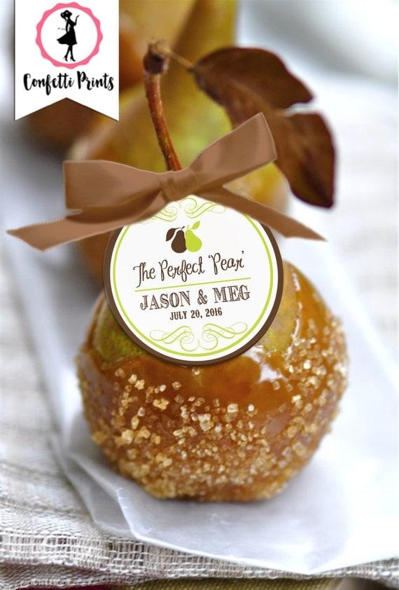 THE PERFECT PEAR Wedding Favor Tags | Wedding Favor Tag | Rustic Wedding Favor Tag | Personalized Wedding Favor Tag |  Printable