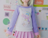 BJD Sweater for Slim MSD Minifee or SD - Twin Stars in the Clouds