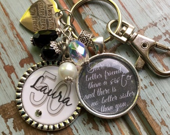 PERSONALIZED SISTER GIFT, Personalized There is no better friend than a sister and there is no better sister than you, inspirational jewelry