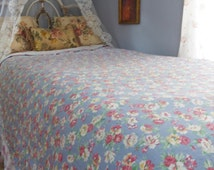 Ralph Lauren, Hope Floral Collection, Twin Flat Sheet, Bedding Sheet, Bed Sheet, Floral Roses
