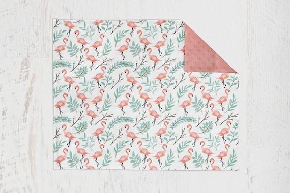 Pink Flamingo Baby Blanket with Pink Minky Backing Crib Bedding Nursery  Decor Flamingo Bedding Flamingo Nursery Toddler Bedding Pink Nursery - Pink Flamingo Baby Blanket With Pink Minky Backing Crib