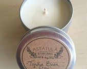TONKA BEAN + CHAI //  Soy Wax Candle // 4oz. Mini Tin