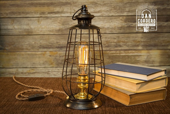 Edison lantern table lamp desk lamp night light bed like this item mozeypictures Image collections
