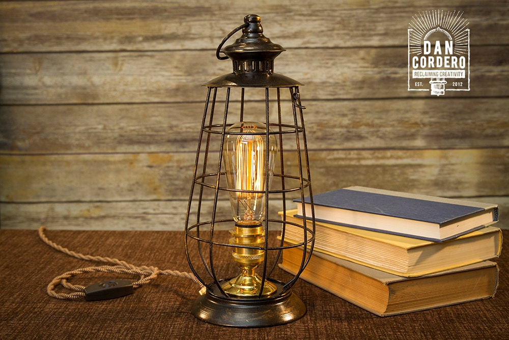 edison lantern table lamp desk lamp light bed 87970