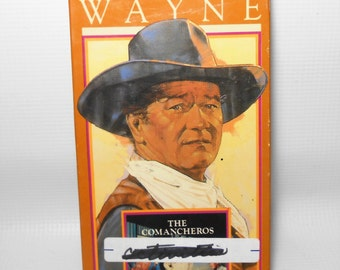 "Vintage VHS Movie, John Wayne, ""The Comancheros"", VCR Tape, Old Movies, Western, The Duke"