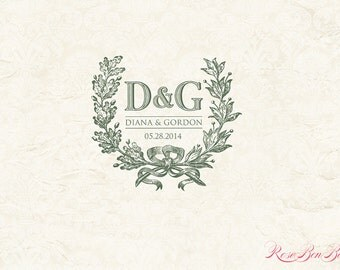 Custom Wedding Monogram - Wedding logo - Digital item