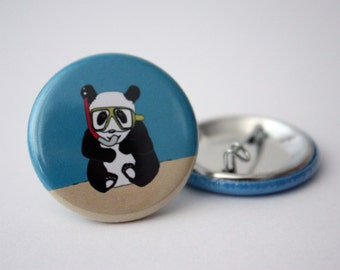 panda button badge