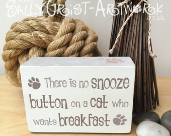 Chunky wooden shelf block, funny sign for a pet lover (dog or cat available)
