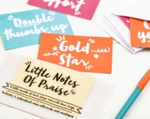 Teacher Gift - Little Notes of Praise - set of notecards - notelets with envelopes, card set, colourful notecards, witty phrases