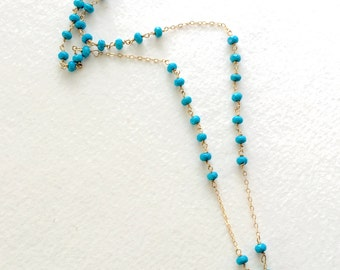 Turquoise Pendant Necklace by KarenWhalenDesigns