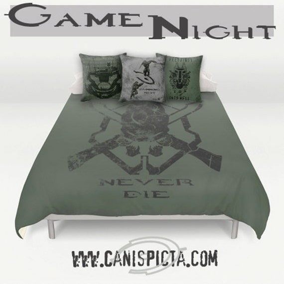 Halo Master Chief Bedding Duvet Video Game Bed Set By