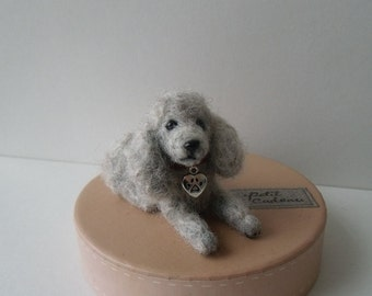 Felted Cute French Poodle (Lying down)