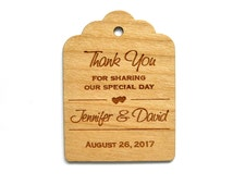 Thank You Wedding Tags, Wooden Tags, Wedding Favor Tags, Gift Tags, Hang Tags, Wood tags, Custom tags, Wood Personalize, Wood Labels