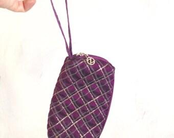 small purple bag for makeup