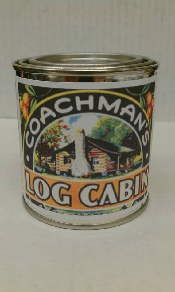 LOG CABIN - Authentic Cedar Log Cabin  Wood Wick Candle - 8 oz. - Free Shipping in USA