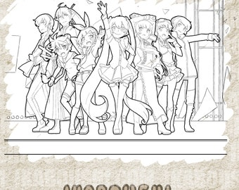 Vocaloid Parody ボーカロイド Coloring Page