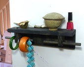 Bracelet Jewelry Organizer Display Hanger Holder Shelf Ebony Stain Handmade