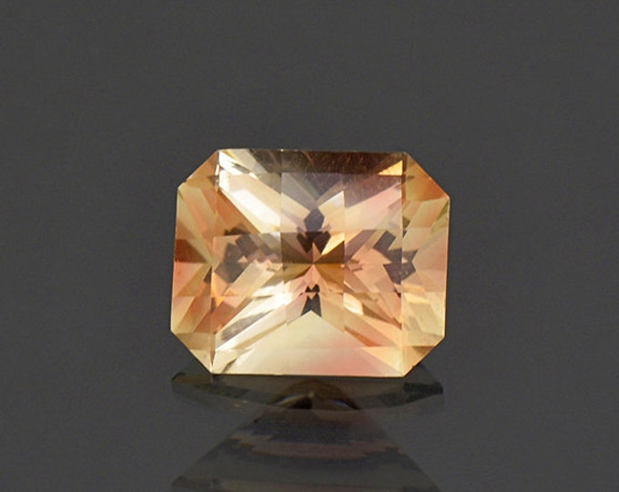 Bright Champagne Copper Checkerboard Cut Sunstone Gem from Oregon 3.63 cts.