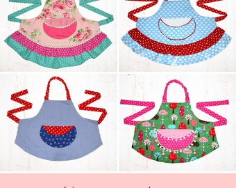 Girls Sewing Pattern pdf, Kids Apron Pattern, Apron Pattern,  Apron Sewing Pattern, Child Apron Pattern, Simple Easy Apron Pattern, APRON