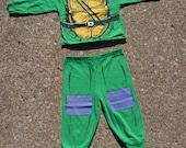 Flippin' Awesome Vintage 1988 Teenage Mutant Ninja Turtle Toddlers Pajama Set
