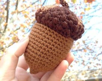 Autumn Acorn Amigurumi Crochet Pattern