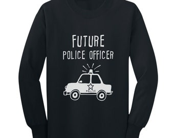 Future Police Officer Kids-Youth Long Sleeve T-Shirt
