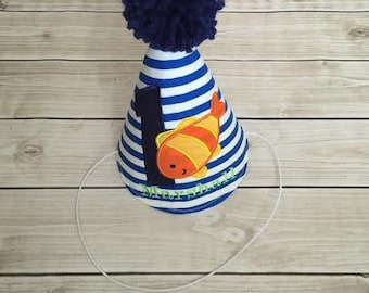 Fish Ocean Theme First Birthday Party Hat