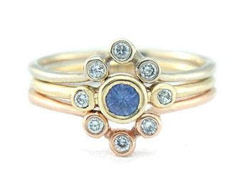 Diamond V Shape Ring 14k Gold Three Diamond Ring V Shape Wedding Band Wrap Band Diamond Ring Chevron Diamond Ring Triple Diamond Ring