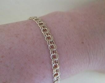 Vintage Link 14K Gold Bracelet