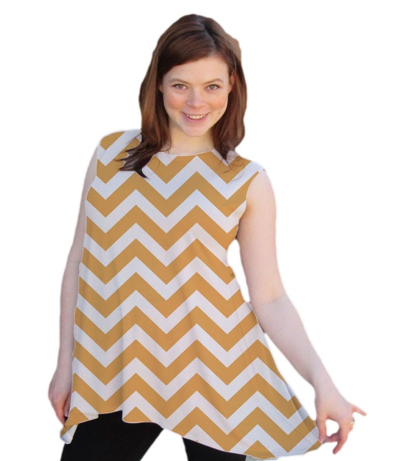 Maternity Flowy fit tank top Chevron Sleeveless scoop