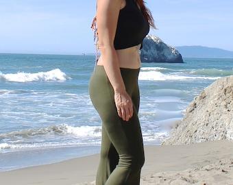 Olive Flare Yoga Pants