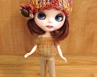 Blythe Fall Hat...Multi-Colored Autumn Hat For Blythe