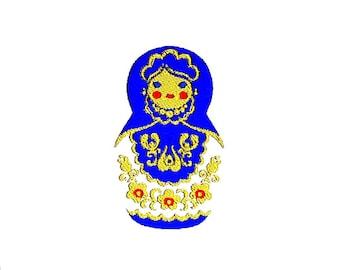 Matryoshka Russian Doll Embroidery Design