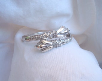 """Antique Silver Etruscan Bracelet - Victorian Silver Cross Over Bangle Bracelet - Good Size at 7 """" and could easily accomodate a larger wrist"""