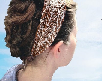 Brown With Ivory Striped Headcovering/Band