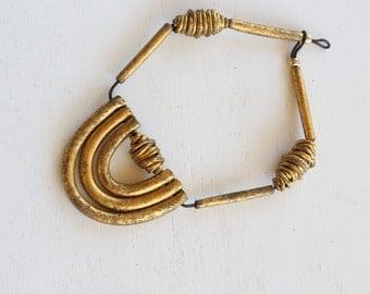 Minimalist Statement Necklace Curved Bar Minimalist Modern Jewelry Contemporary Jewelry