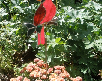 Stained Glass Cardinal for your garden and more